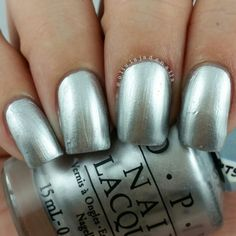 OPI Silver Canvas swatched by Olivia Jade Nails