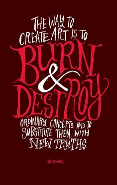 Graphic Artworks Inspired by 20th Century American Authors | Burn & Destroy, Chris Piascik
