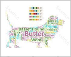 Basset Hound Word Art Dog 8 x 10 Print Basset Hound Pet Gifts 40th Birthday Poems, 16th Birthday Card, Birthday Words, 21st Birthday Gifts, Pet Memorial Stones, Pet Memorial Gifts, Nursery Prints, Nursery Decor, Dog Prints