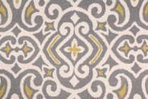 Robert Allen New Damask Printed Cotton Drapery Fabric in Greystone $11.95 per yard
