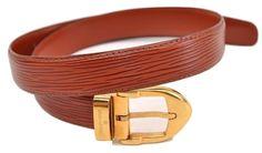 c87aa9550d80 Authentic Louis Vuitton Epi Leather Brown Belt Size 85 LV 63738  fashion   clothing