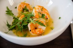 Prawns with parsley gremolata and ginger lime beurre blanc