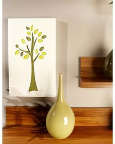 Olive Green Tree Wall Decoration
