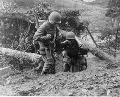 The struggle to bring up ammunition in the Hurtgen Forest, extrication the wounded was even more difficult.