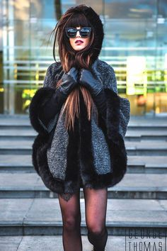 PHOTOSHOOT WITH FASHION BLOGGER IOANNA THEODOROU IN A DARK WINTER LOOK AND OUR VALLEY SHADES 'A DEAD COFFIN CLUB'