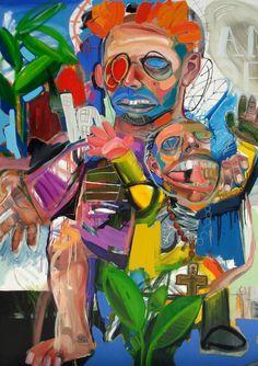 Guerra santa. óleo sobre tela 170 x 120 cm. 2005.