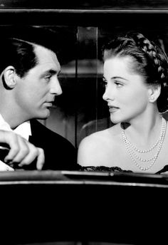 "Cary Grant and Joan Fontaine From Alfred Hitchcock Black and white ""Suspicion"" 1941 Hollywood Men, Old Hollywood Stars, Golden Age Of Hollywood, Vintage Hollywood, Hollywood Glamour, Classic Hollywood, Alfred Hitchcock, Hitchcock Film, Entertainment Weekly"
