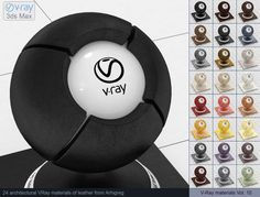 Vray Leather Materials 3D Модель .max .c4d .obj .3ds .fbx .lwo .stl @3DExport.com by ARHIGREGDESIGN