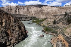 The fast moving Chilcotin River