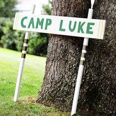 Backyard Camping Birthday Bash
