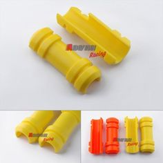 45.00$  Watch now - http://alivlc.worldwells.pw/go.php?t=32788605729 - Yellow Front Fork Guards Protector Slider Cover Fit for YAMAHA XG250 Tricker