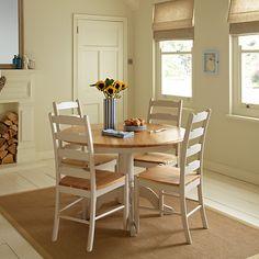 52dbc7555241 John Lewis & Partners Regent Round 4-6 Seater Extending Dining Table,  FSC-Certified (Oak), Soft Grey