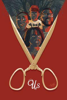 US movie usmovie jordan peele poster art posters movies horror thriller Horror Movie Posters, Best Movie Posters, Movie Poster Art, Art Posters, Film Posters, Vintage Movie Posters, Vintage Movies, Illustrations Posters, Poster Print