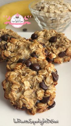 Cookies super light con avena e gocce di cioccolato