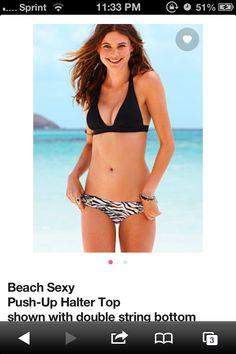 Black bikini push up too