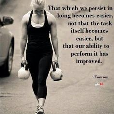 #Kettlebell Farmers Walk. When all else fails, persistence prevails...
