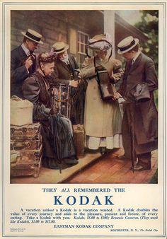 """A vacation without a Kodak is a vacation wasted"", kodak advertising 1909 Duke University David M. Rubenstein Rare Book & Manuscript Library"