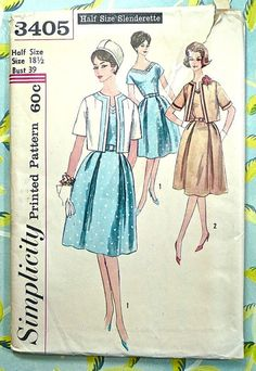 Simplicity 3405  Vintage 1960s Womens Dress Pattern by Fragolina, $8.00