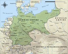 German Empire in 1914.