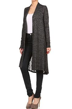 Women's Cardigans - ReneeC Womens Lightweight Open Front Classic Long Office Cardigan  Made in USA * Click on the image for additional details. (This is an Amazon affiliate link)