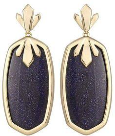 @Kendra Scott Dillon Earrings in Blue Goldstone