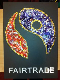 Fairtrade wrapper art Class Displays, School Displays, Classroom Displays, Teaching Geography, Primary Teaching, Teaching Ideas, Chocolate Art, Chocolate Factory, School Fun