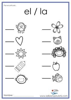 Mis oraciones {Complete the sentence in Spanish} Spanish Worksheets, Spanish Teaching Resources, Kindergarten Math Worksheets, Teaching Materials, Spanish Lessons For Kids, Spanish Lesson Plans, 1st Grade Writing, Abc Activities, Math Words