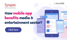 Improve the business functioning of your EVENT MANAGEMENT COMPANY with a MOBILE APP usage.   SynapseWebSolutions is here to offer technical solutions to MEDIA & ENTERTAINMENT INDUSTRY. Event Management Company, Event Planning Business, Mobile App, Benefit, Entertainment, Mobile Applications, Entertaining