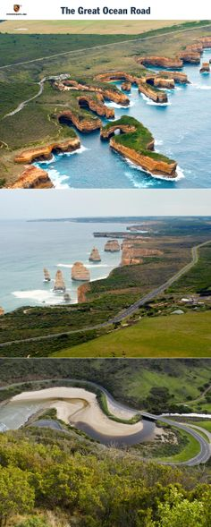 The Great Ocean Road, Australia. An Australian beauty with twists and turns. Start: Warrnambool. Destination: Melbourne. Driving time: Approx. 5 hours. Distance: Approx. 345 km (214 miles). Recommended travel time: year round.   Learn more: http://link.porsche.com/gts/australia