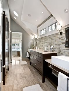 Master Bath - windows - Salt Lake City Contemporary Bathroom Bathroom Faucet Design, Pictures, Remodel, Decor and Ideas - page 2