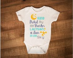Check out this item in my Etsy shop https://www.etsy.com/ca/listing/525134849/memorial-baby-onesie-hand-picked-onesie