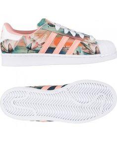 Adidas Originals Superstar X Farm Print Womens White Pink Traniers Rose Gold Adidas, Pink Adidas, Black Adidas, Adidas Superstar, Adidas Shoes Women, Adidas Sneakers, Pink Shoes, Adidas Originals, Trainers