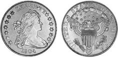 Top 5 US Coins  We all know that US coins lead the collecting world, so here's our Top 5 most fascinating examples...   1804 Class III silver dollar...