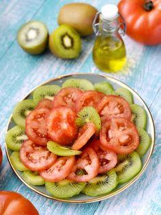 poivre, citron, huile, tomate, sel, kiwi
