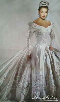 Demetrios 1994 Retro Wedding Dresses Antique Bridal Vintage Gowns
