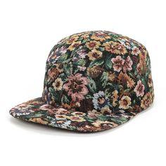 flower 5 panel cap