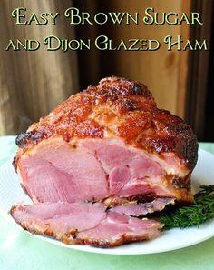 Dijon and Brown Sugar Glazed Ham