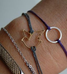 Charms with string, so easy!