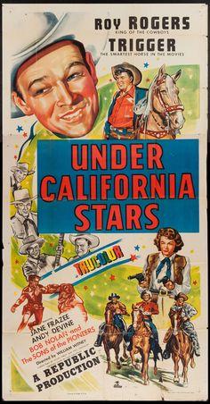 Under California Stars (1948)  Stars: Roy Rogers, Trigger, Jane Frazee, Andy Devine, Michael Chapin, Bob Nolan ~ Director: William Witney