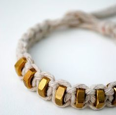 Awesome! This Square Knot Hexnut Bracelet is by far one of the coolest DIY bracelets a kid could make!