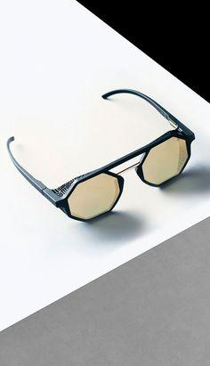 Lookbook | 3D-Printed Eyewear | Materialise Golf Sunglasses, Cat Eye Sunglasses, Mirrored Sunglasses, Funky Glasses, Glasses Frames, Steampunk Sunglasses, Fashion Eye Glasses, Eyewear Brands, Eyeglasses