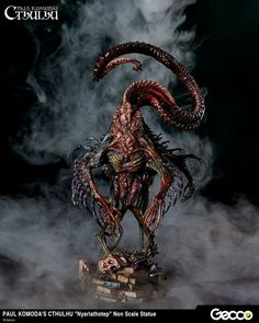 Nyarlathotep from Cthulhu Mythos, Prepainted Statue - Gecco Direct Cthulhu Art, Call Of Cthulhu, Lovecraftian Horror, Eldritch Horror, Tyranids, Demon Art, Creature Concept, Horror Art, Creature Design