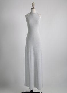 1970s Oscar de la Renta sparkle knit halter gown hemlockvintage.com