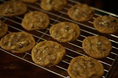 Chocolate Chip Cookies cooling for a customer.