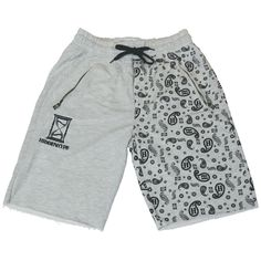 Underground Outfits Feature  © Hidden Hype - H Paisley Shorts in Grey   streetwear   8c6e20934