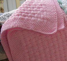Basket Weave Baby Blanket
