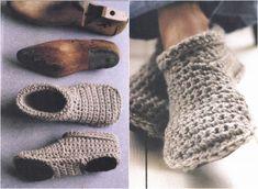 Slipper Boots Free Crochet Pattern con video