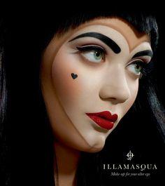 Illamasqua 'Throb' collection #makeup  #paleskin  #goth #theatrical #redlip #pinup