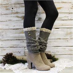 leg warmers - lace leg warmers - knit -cuff - buttons Leg Warmers 80s, Boots With Leg Warmers, Crochet Leg Warmers, Lace Socks, Lace Knitting, Dance Wear, Autumn Fashion, My Style, Tricot