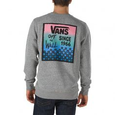 ffa88869aa Vans Checked In Crew Fleece Concrete Heather - Vans UK Official Online  Store Fleece Hoodie